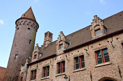 Old building. Old medieval building in Bruges, Belgium Royalty Free Stock Photo