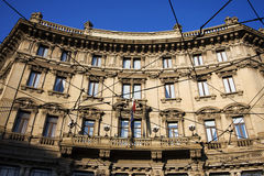 Old building in milan Royalty Free Stock Image