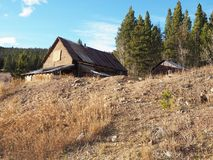 An old building for a mine in the hills near Breckenridge Colorado royalty free stock photo