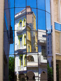 Old building mirrored Royalty Free Stock Images