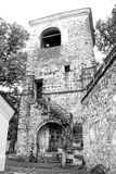Old building in monastery`s yard Royalty Free Stock Images