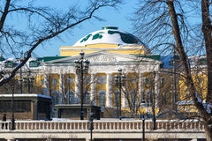 Old building of Moscow State University at Manege square Royalty Free Stock Photos