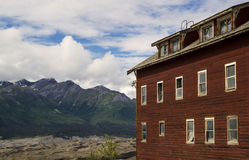 Old building with mountains. Stock Images