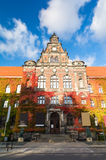 Old building of National Museum with autumn ivy in Wroclaw, Poland Stock Image