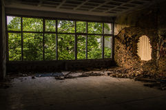 Old building in nature. Inside Royalty Free Stock Photo