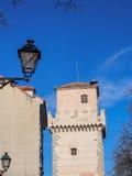 Old building near Segovia castle, Spain Stock Photo