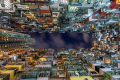 The old building at night, Hong Kong royalty free stock image