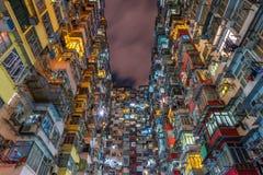 The old building at night, Hong Kong royalty free stock images
