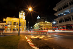 Old building in night time phuket town Thailand. Old building in night time phuket town Thailand Stock Photo