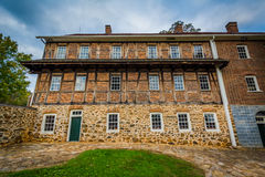Old building in the Old Salem Historic District, in downtown Win Stock Image