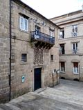 Old building in the old town of Ourense in Spain. During a sunny summer day stock photo