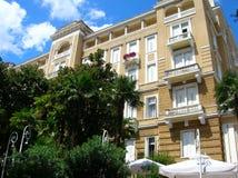Luxury hotel in Opatija royalty free stock image