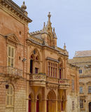 Medieval Maltese architecture, Mdina, Malta Royalty Free Stock Images