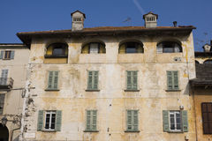 Old building in orta san giulio Royalty Free Stock Photos