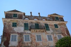 Old Building in Paxos Island royalty free stock photos
