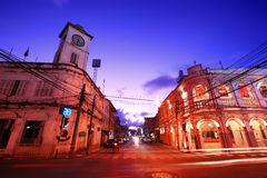 Old building in Phuket town,Thailand Royalty Free Stock Photos