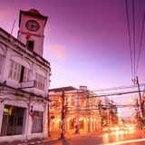 Old building in Phuket at twilight, Thailand Royalty Free Stock Image