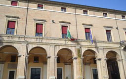 Old building on Piazza Cavour Royalty Free Stock Photo