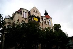 The old building. In Poland Royalty Free Stock Photography