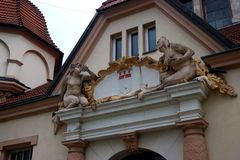 The old building. In Poland Royalty Free Stock Photos