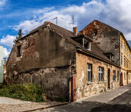 Old building of red brick. Bydgoszcz, Poland Stock Image
