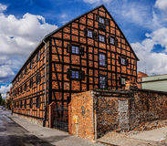 Old building of red brick. Bydgoszcz, Poland Royalty Free Stock Images