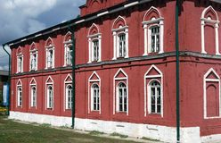 Old building of red bricks. Kremlin in Kolomna, Russia. Royalty Free Stock Photography
