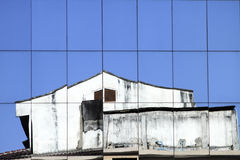 Old building reflection Royalty Free Stock Photography