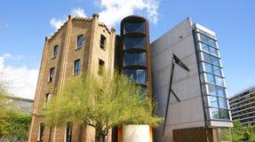 Old building refurbished La Farinera del Clot. Barcelona Royalty Free Stock Photo