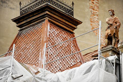 Old Building Restoration stock photography