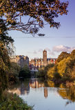 Old Building and River. Newbridge College with the river Liffey at Sunset Royalty Free Stock Photos