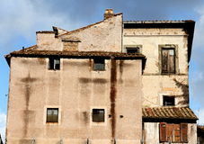 Old building in Rome. Ancient building in Rome . Italy Royalty Free Stock Images