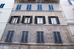 Old building in Rome, the capital of Italy. Situated on a very narrow street stock image