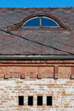 Old building and roof Stock Images
