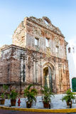 Old building ruins. Located in casco viejo Panama Stock Image
