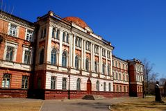 Old building of school. In Russia Stock Images