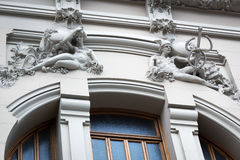 Old building with sculptures Royalty Free Stock Images