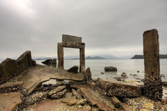 Old building at seaside. Royalty Free Stock Image