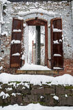 Old Building and Snow Royalty Free Stock Photo