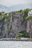 Sorrento sea coast. Italian landscape. Old building on Sorrento sea coast. Italian landscape Royalty Free Stock Photo