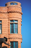 Old building in the southwest. Old building with a turret in Pueblo, Colorado, USA Stock Photo