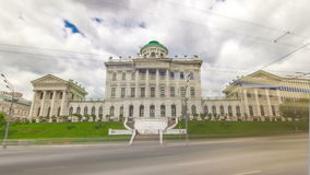The old building of State Russian library stock video footage