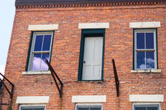 Old building on a street of Galena, Illinois Royalty Free Stock Images