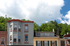 Old building on a street of Galena, Illinois Stock Photo