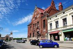 Old building of Suomen Pankki in Vyborg, Russia Royalty Free Stock Photo