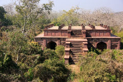 Old building surrounded by trees, Ranthambore Fort, India Royalty Free Stock Photography