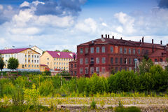 Old building of textile factories Stock Images