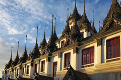 Old building in thailand. Old building on sunset in thailand Stock Photo