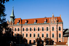 An old building with a tower in Krakow Royalty Free Stock Photo
