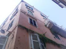 Old building. In old town of Corfu Stock Images
